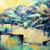 Acrylmalerei, Moderne malerei, Berge, Expressionismus