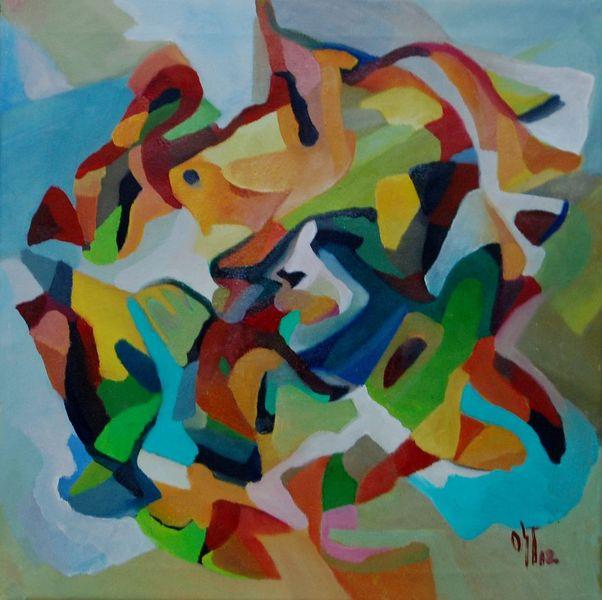 Ölmalerei, Abstrakter expressionismus, Brief, Sonne, Abstrakter expresionismus, Feucht