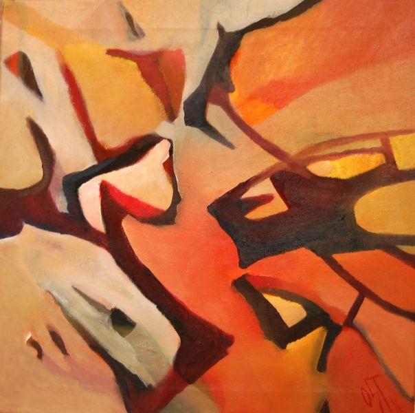 Abstrakter expresionismus, Ölmalerei, Birotic art, Malerei, Abstrakt, Dialog