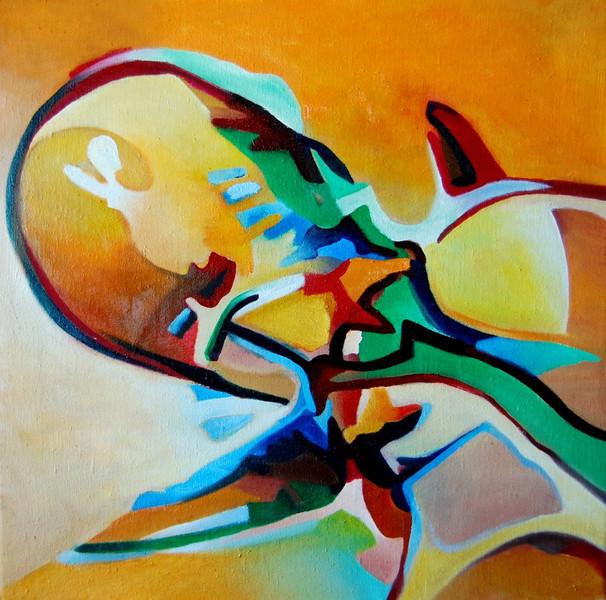 Ölmalerei, Malerei, Abstrakt, Ego