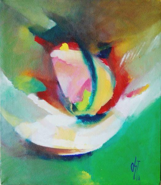 Abstrakter expressionismus, Brief, Herbst, Ölmalerei, Birotic art, Wolkig