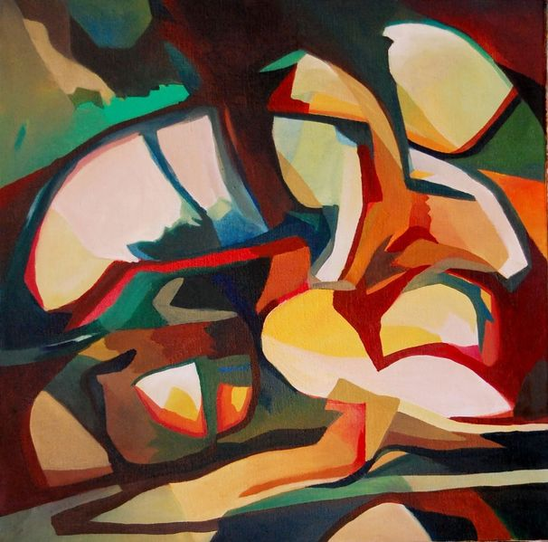 Rede, Ölmalerei, Birotic art, Farben, Abstrakter expresionismus, Herbst