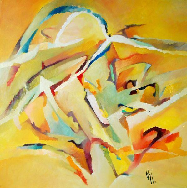 Glaube, Ölmalerei, Birotic art, Sonne, Abstrakter expressionismus, Farben