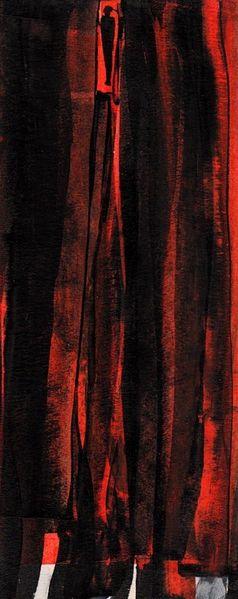 Nacht, Rot, Traum, Malerei