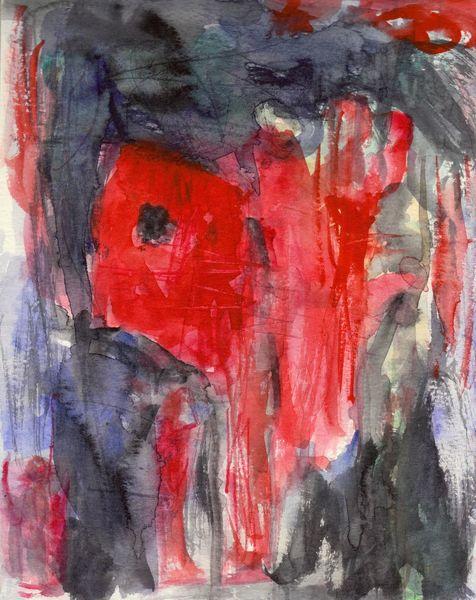 Surreal, Abstrakt, Sommer, Rot, Aquarell