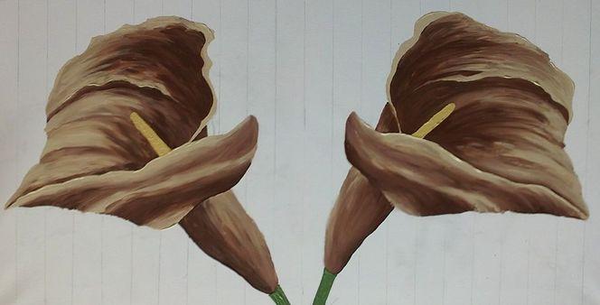 Blüte, Calla, Blumen, Acrylmalerei, Malerei, Pflanzen