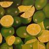 Zitrusfrüchte, Stillleben, Limetten, Malerei