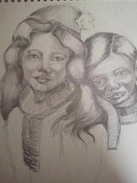 Zeichnungen, Portrait, Kids