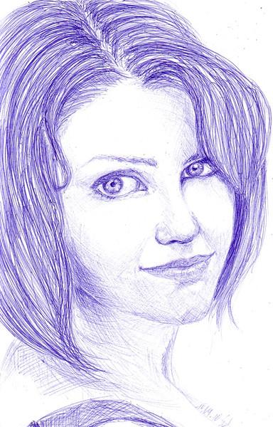 Bekommen, Ergeizig, Frau, Zeichnungen, Portrait