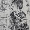 Kind, Vorsicht, Griff, Zeichnungen
