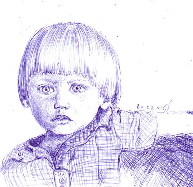 Kindbuchlärmausdruck, Zeichnungen, Portrait