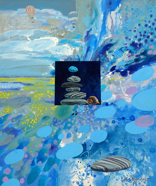 Malerei, Park, Acrylmalerei, Grün, See, Realismus