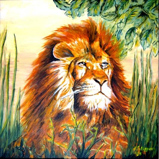 Malerei, Löwe
