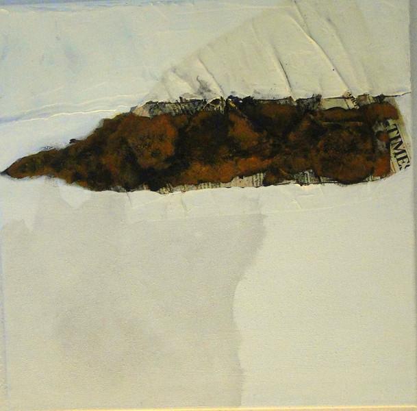 Weiß, Braun, Beige, Acrylmalerei, Kreide, Rost