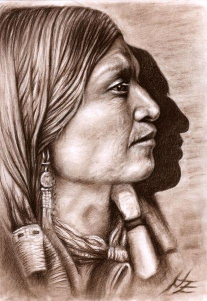 Profil, Braun, Portrait, Schatten, Sepia, Gesicht