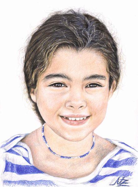 Mädchen, Kind, Portugal, Gesicht, Lächeln, Portrait