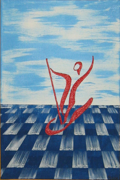Surfen, Wasser, Blau, Rot, Himmel, Malerei