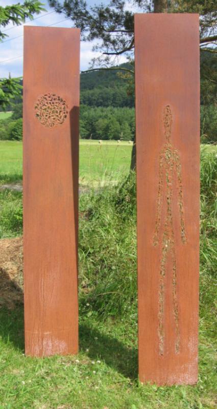 Ohne titel gartenskulptur stahlkunst kunsthandwerk metall von andreas schmelzer bei kunstnet - Gartenskulpturen metall ...