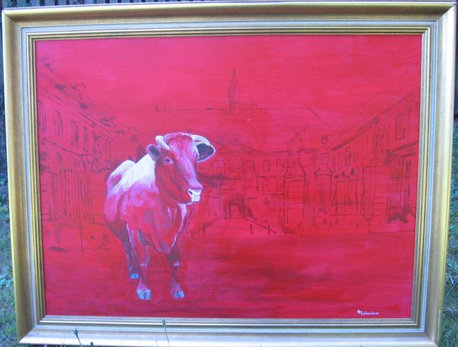 Kuh, Stier, Lauterbacherkreisel, Kunst auf kreisel, Kunst aus lauterbach, Kuh kunst
