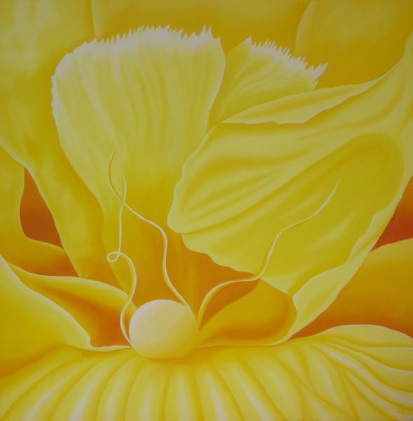 Modern, Gelb, Ölmalerei, Malerei