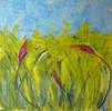 Grün, Natur, Blau, Malerei