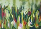 Ölmalerei, Bunt, Sommer, Wiese