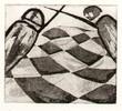 Schach, Radierung, Druckgrafik, Kampf
