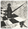Schach, Radierung, Druckgrafik