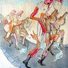 Street art, Steckenpferd, Comic, Malerei