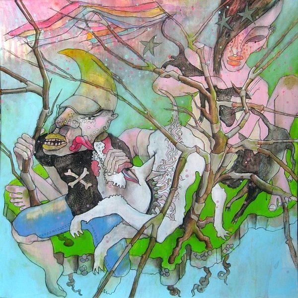 Baum, Zeichnung, Expressionismus, Mond, Zeichnen, Bayer