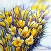 Frühling, Blumen, Frühblüher, Aquarell