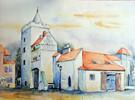 Naumburg, Stadttor, Tor, Aquarellmalerei