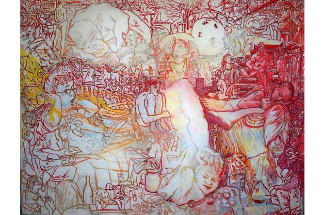 Malerei, Surreal, Augen, Portrait