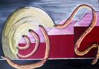 Ölmalerei, Herne, Abstrakt, Schlange