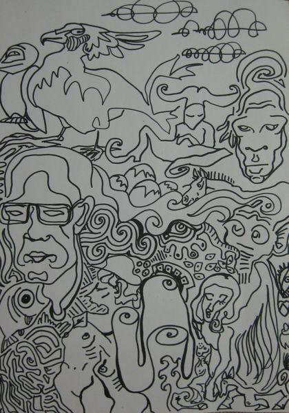 Till, Figur, Linie, Zeichnungen