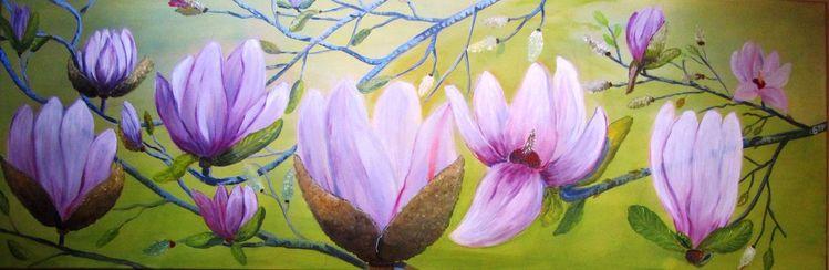 Jahreszeiten, Pflanzen, Blumen, Magnolien, Baum, Flora