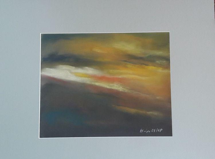 Himmel, Nacht, Weite, Wolken, Malerei, Abendstimmung