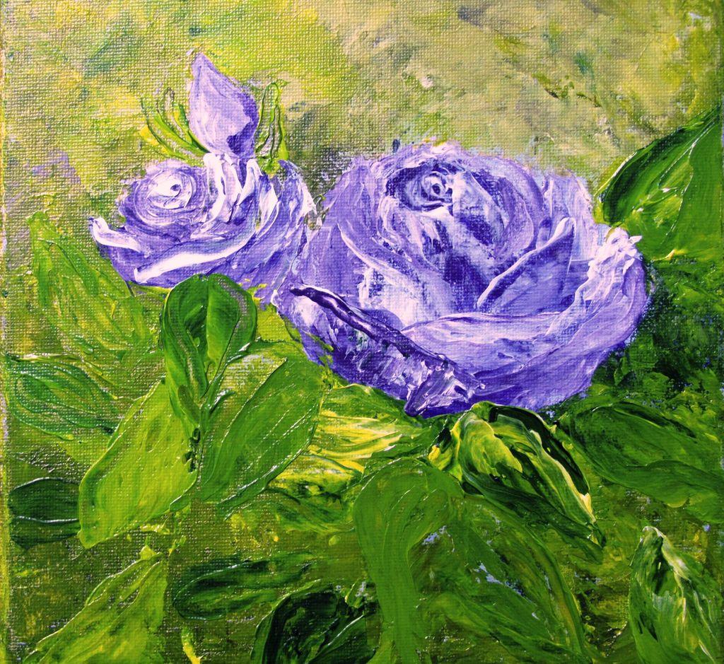 Kunstnet werke malerei pflanzen rosen