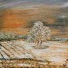 Wanderung, Winter, Landschaft, Malerei