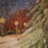 Tanne, Laterne, Schnee, Baum