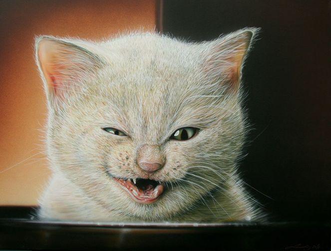 Katze, Malerei, Tiere