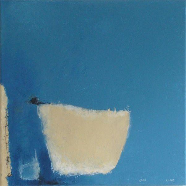 Acrylmalerei, Malerei, Abstrakt, Blau