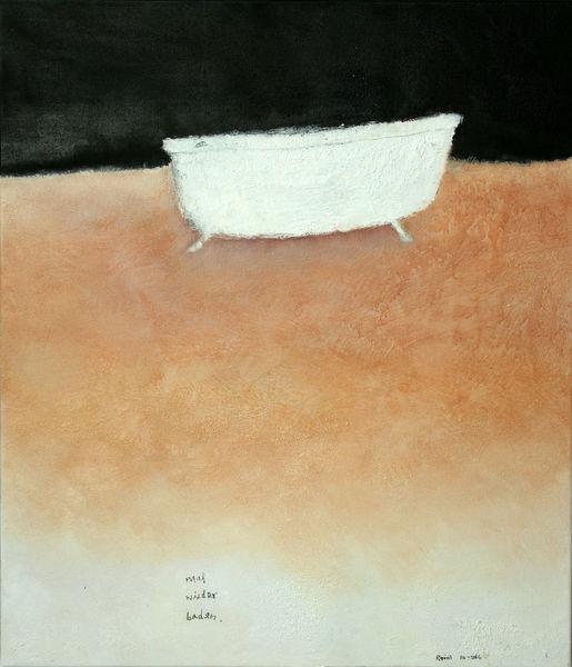 Nacht, Badewanne, Purismus, Malerei, Baden