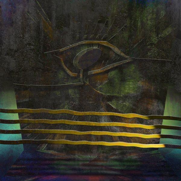 Digital, Senf, Abstrakt, Kontrast, Surreal, Metall