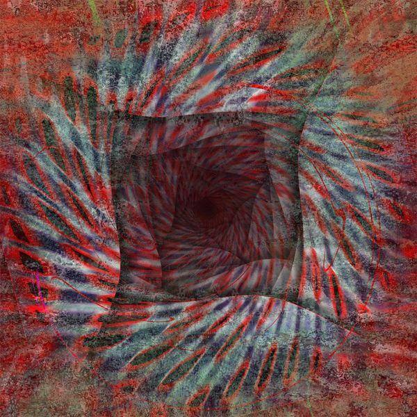 Digital, Faun, Quadrat, Höhle der depressionen, Rot, Relief