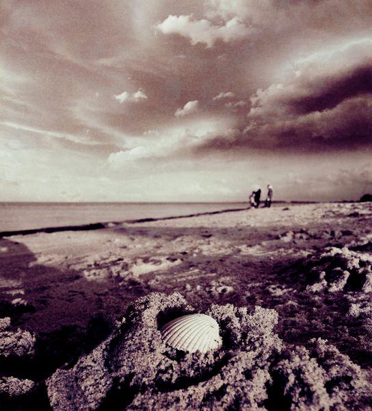 Wasser, Monochrom, Kinder, Meer, Wolken, Ufer