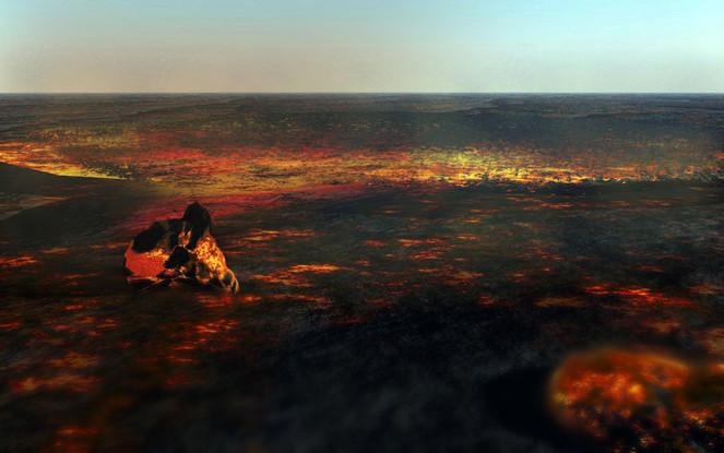 Erde, Glut, Phoenix, Asche, Feuer, Hitze