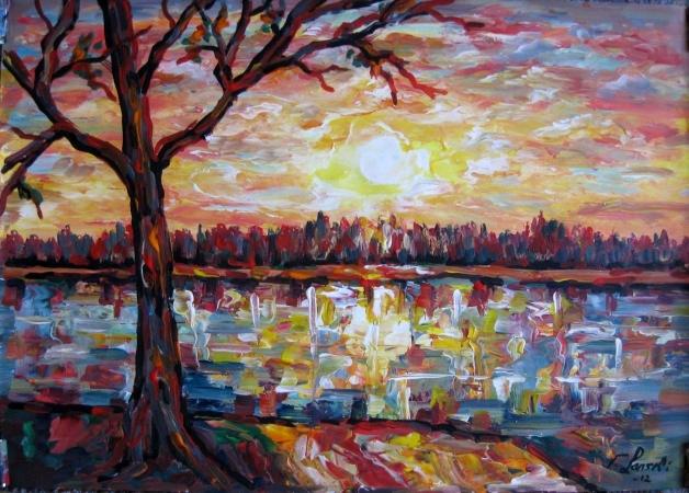 Landschaft, Malerei, Stimmung