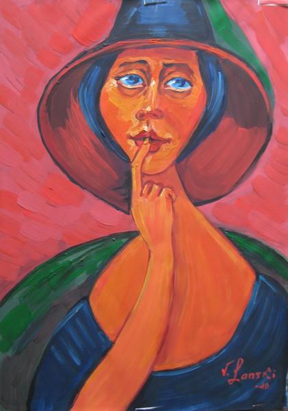 Malerei, Akt, Dame
