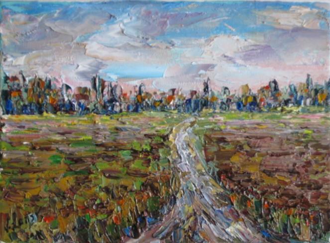Landschaft, Malerei, Feld